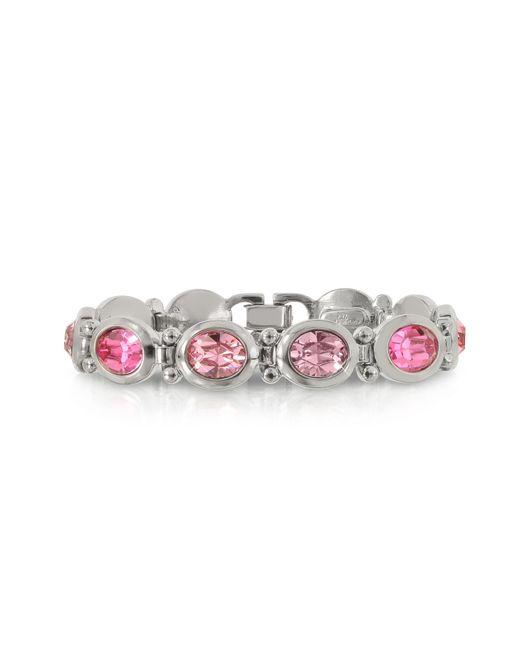 Forzieri - Pink Crystals Bracelet - Lyst