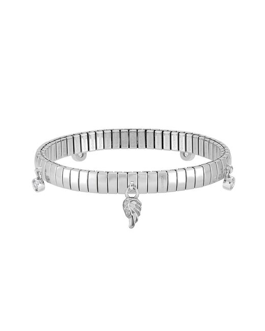 Nomination | Metallic Stainless Steel Women's Bracelet W/stearling Silver Wing And Cubic Zirconia | Lyst
