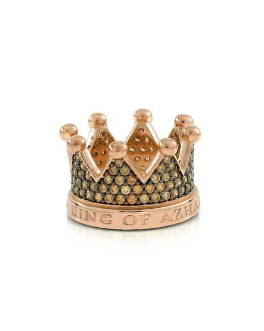 Azhar | Metallic Re Silver And Zircon Crown Ring | Lyst