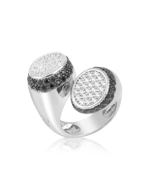 Azhar | Black And White Contrarie' Ring | Lyst