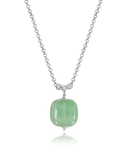 Antica Murrina | Florinda Green Murano Glass Sterling Silver Necklace | Lyst