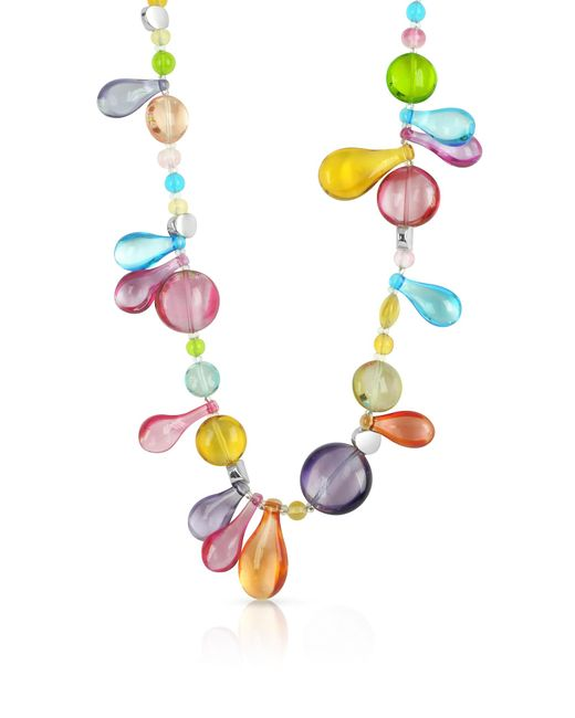 Antica Murrina | Multicolor Lapilli - Long Murano Glass Necklace | Lyst