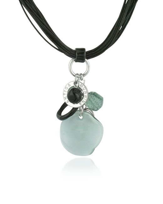 Antica Murrina | Gray Kali' - Murano Glass Charm Pendant Necklace | Lyst
