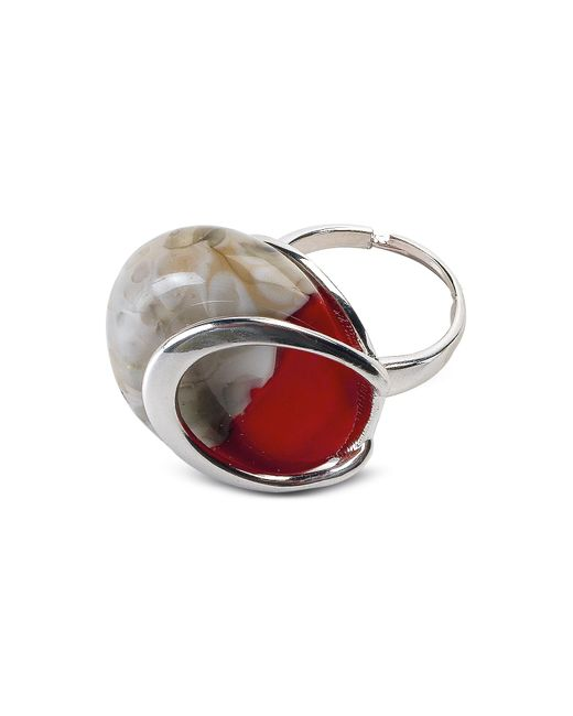 Antica Murrina | Oriental - Red Murano Glass Ring W/crackling Effect | Lyst
