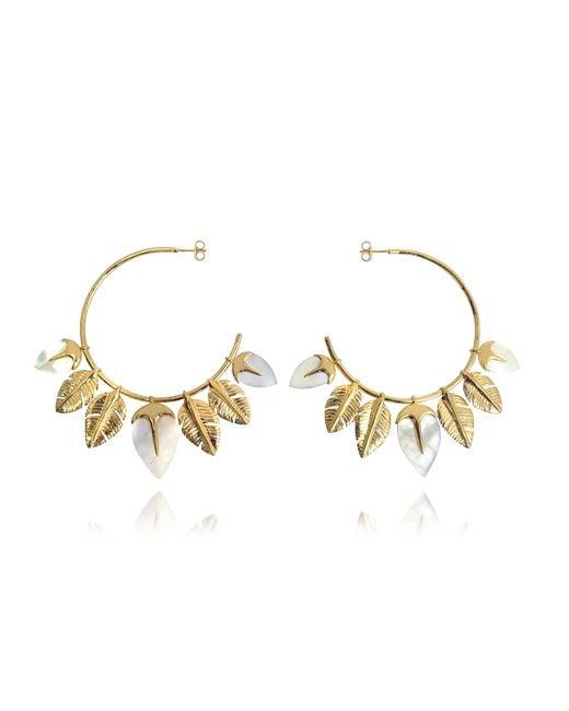Aurelie Bidermann   Metallic Talitha Hoop Earrings   Lyst