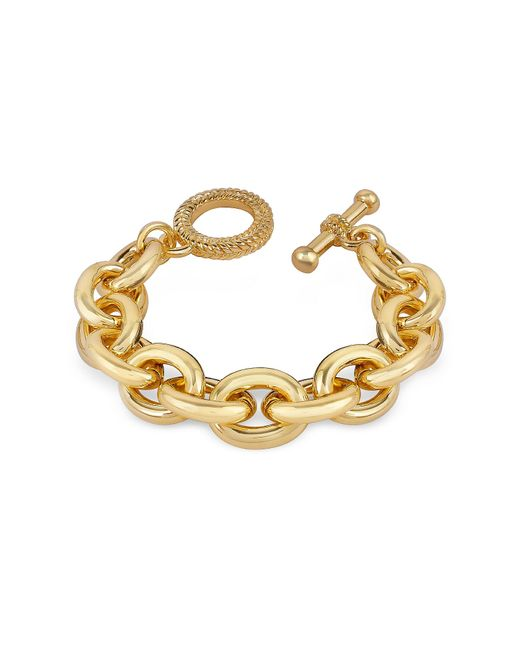 AZ Collection | Metallic Gold Plated Chain Toggle Bracelet | Lyst