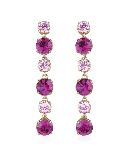 AZ Collection | Metallic Pink & Amethyst Drop Earrings | Lyst
