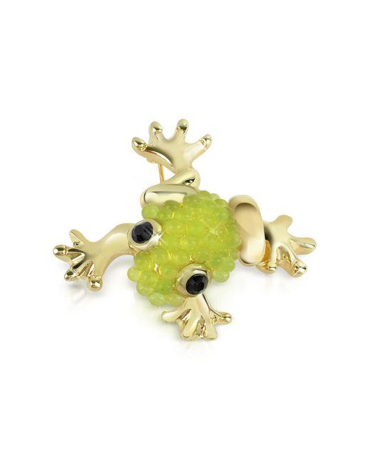 AZ Collection | Metallic Light Green Frog Brooch | Lyst