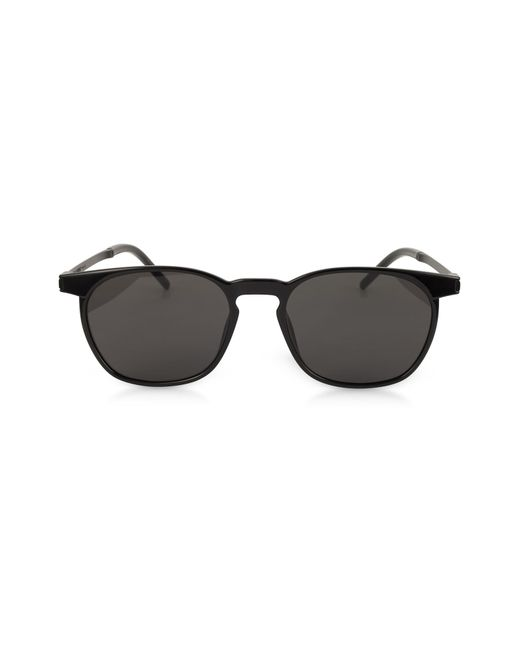 32ce5ba3e07 Saint Laurent - Black Sl 240 Acetate And Metal Squared Men s Sunglasses for  Men - Lyst