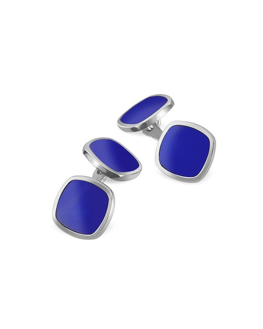 Forzieri - Blue Square Sterling Silver Double Sided Cufflinks for Men - Lyst