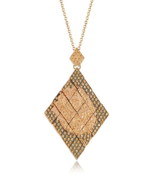 Azhar - Multicolor Rosa Silver And Zircon Pendant Necklace - Lyst