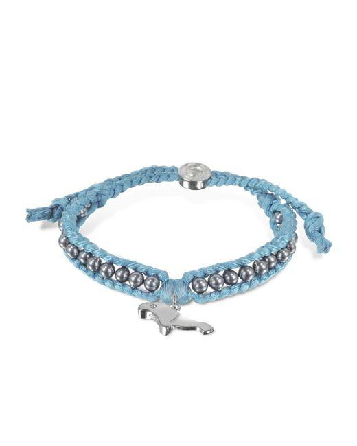 Sho London - Blue Manatee Friendship Silk Bracelet - Lyst