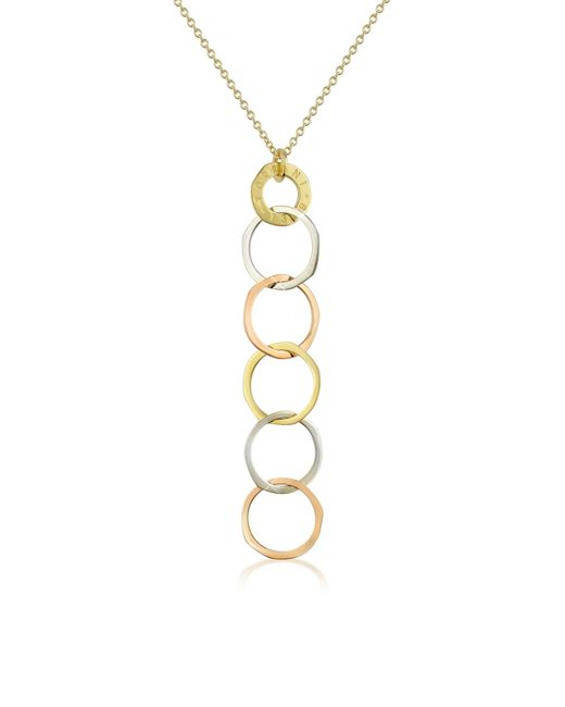 Torrini - Metallic Fiesole - Three-tone 18k Gold Circles Drop Necklace - Lyst