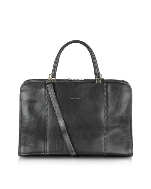 Chiarugi - Black Double Handle Leather Briefcase - Lyst