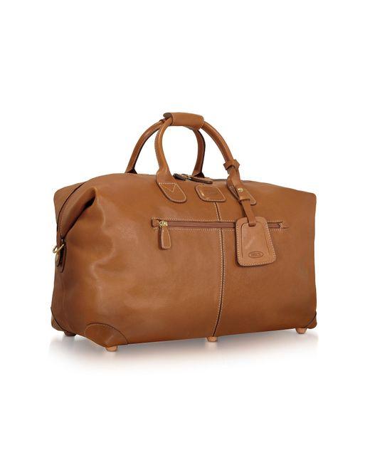 Bric's | Brown Life Pelle - Medium Leather Travel Bag for Men | Lyst