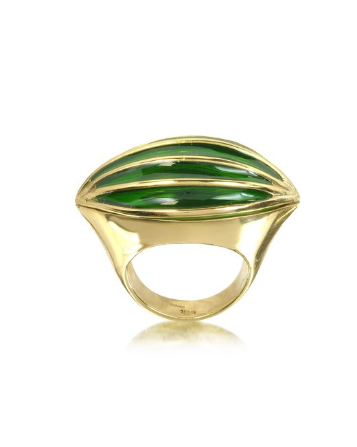 Bernard Delettrez | Metallic Bronze Poison Ring W/eye | Lyst