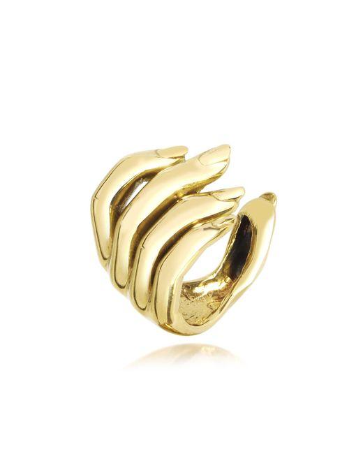 Bernard Delettrez | Metallic Goldtone Open Hand Women's Bronze Ring | Lyst