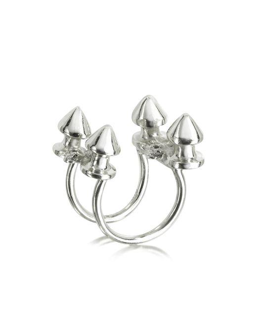 Bernard Delettrez | Metallic Four Studs Silver Ring | Lyst