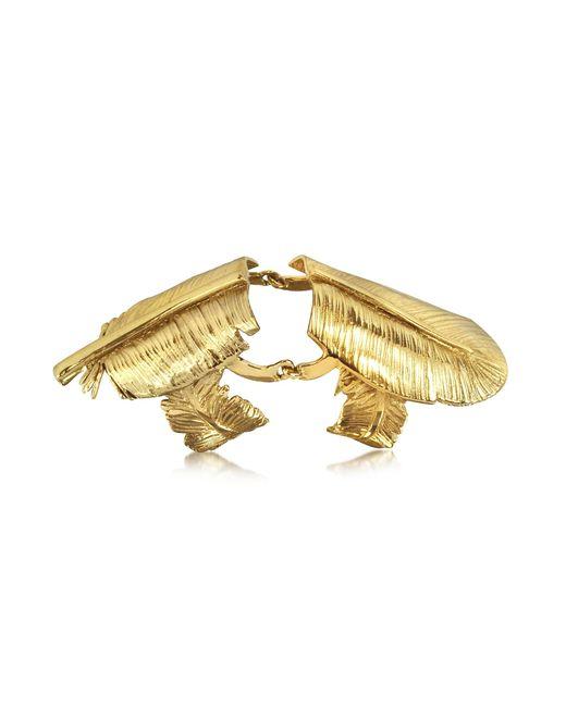 Bernard Delettrez | Metallic Bronze Articulated Feather Ring | Lyst