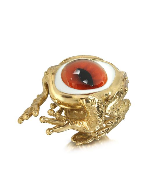 Bernard Delettrez | Metallic Bronze Frog Ring With Eye | Lyst