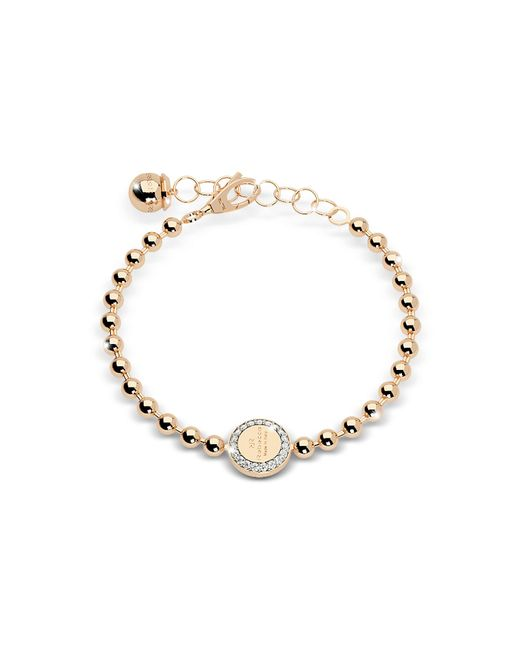 Rebecca | Boulevard Stone Yellow Gold Over Bronze Bracelet W/stones | Lyst