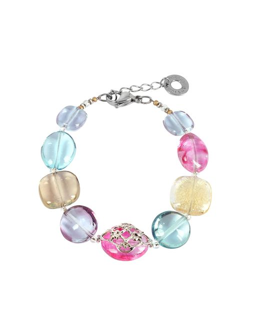 Antica Murrina - Multicolor Florinda Top T Transparent Murano Glass Beads Bracelet - Lyst