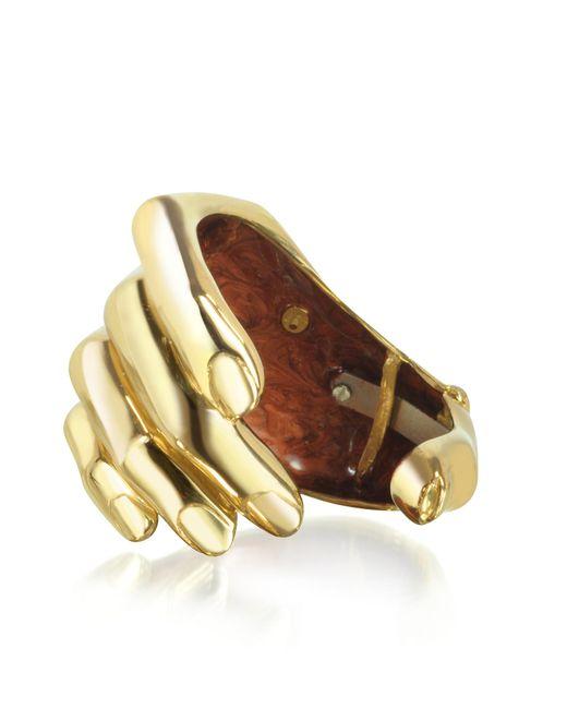 Bernard Delettrez - Metallic Hand Bronze Cuff Bracelet - Lyst