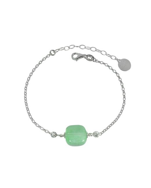 Antica Murrina - Florinda Green Murano Glass Sterling Silver Bracelet - Lyst