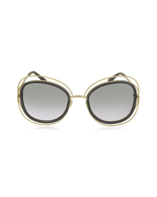 Chloé | Gray Carlina Ce 123s Square Oversized Acetate & Metal Women's Sunglasses | Lyst