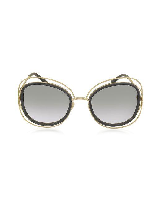 Chloé - Gray Carlina Ce 123s Square Oversized Acetate & Metal Women's Sunglasses - Lyst
