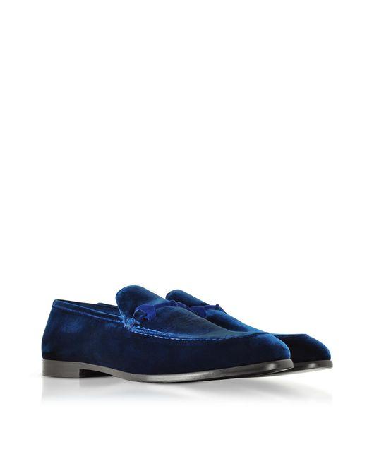 Slipper MARTI velvet blue Horsebit-Detail Jimmy Choo London Genuine For Sale Discount Sale Cheap Nicekicks yVscr3o