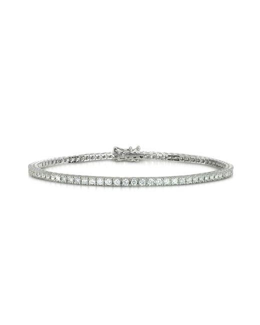 Forzieri - 1.56 Ctw Diamond 18k White Gold Tennis Bracelet - Lyst