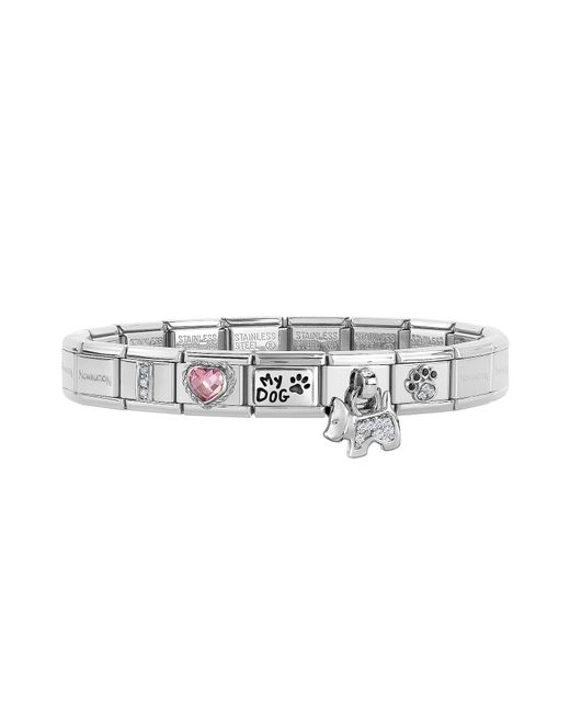 Nomination - Metallic Classic I Love My Dog Stainless Steel Bracelet W/charm - Lyst