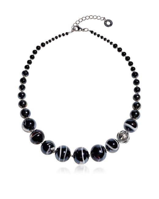 Antica Murrina - Optical 2 - Black Murano Glass Choker - Lyst