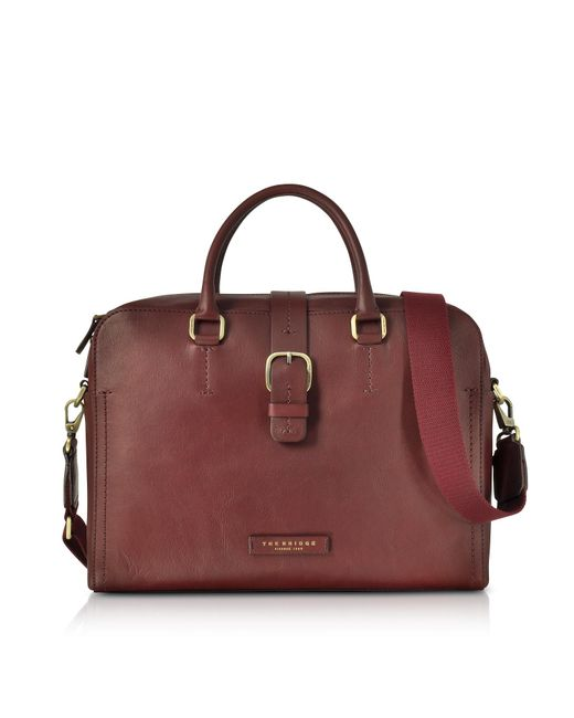 The Bridge | Multicolor Burgundy Leather Double Handle Briefcase W/detachable Shoulder Strap for Men | Lyst
