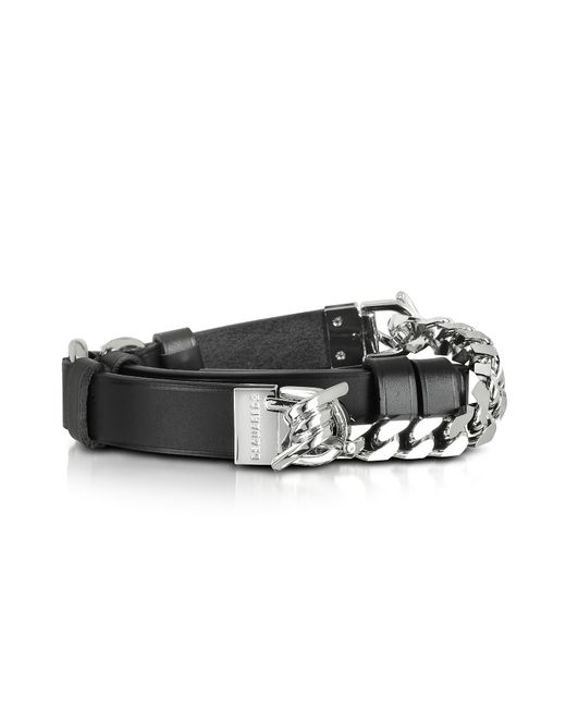 DSquared² - Babe Wire Black Leather And Silver Tone Metal Women's Belt - Lyst