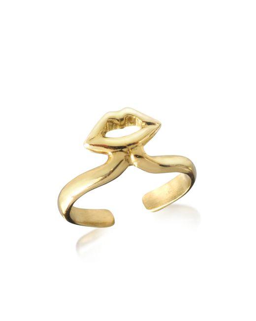 Bernard Delettrez - Metallic Bronze Midi Ring W/mouth - Lyst