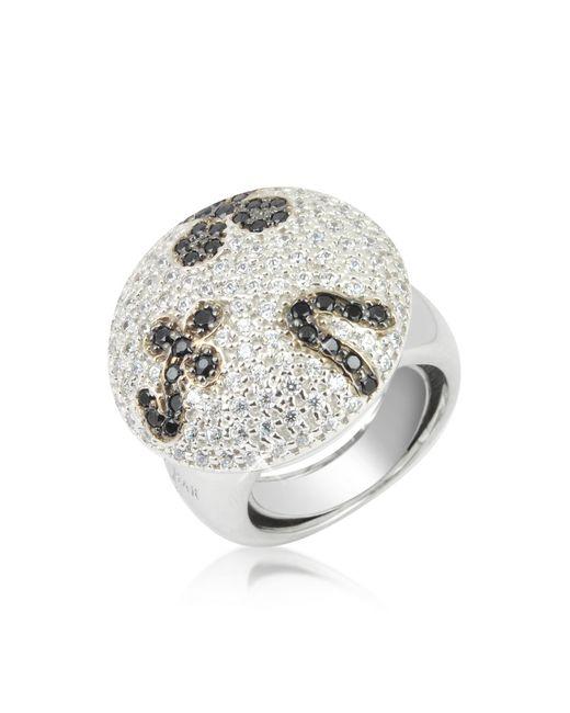 Azhar - Black And White Fashion Ring - Lyst