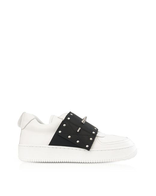 RED Valentino - White/black Slip-on Sneakers W/studs - Lyst