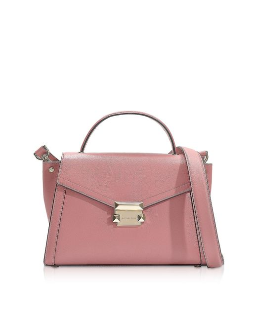737acc2b45fb Michael Kors. Women s Pink Rose Leather Whitney Medium Top-handle Satchel  Bag