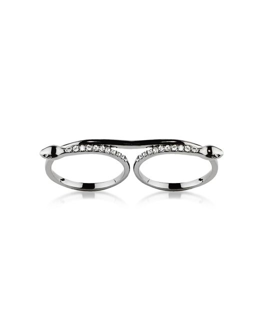 FEDERICA TOSI - Metallic Double Snake Ring - Lyst