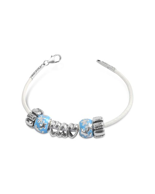 Tedora   Blue Baby Boy Sterling Charm Bracelet   Lyst
