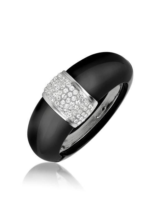 AZ Collection   Black Bangle Bracelet   Lyst