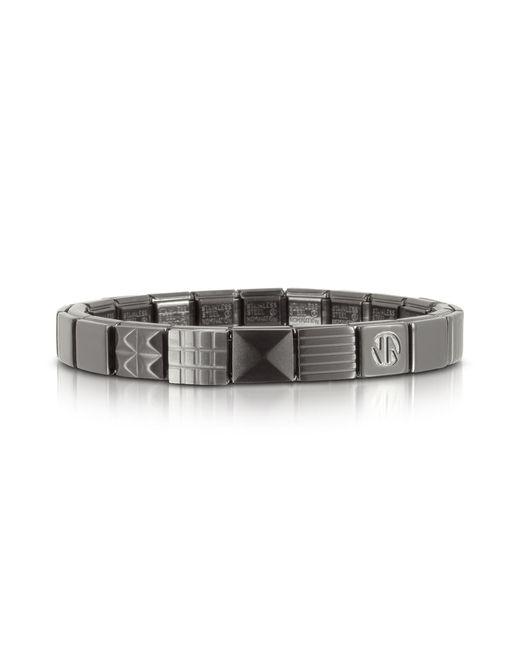 Nomination - Metallic Steel Ikons Pyramids Brushed Stainless Steel Bracelet for Men - Lyst