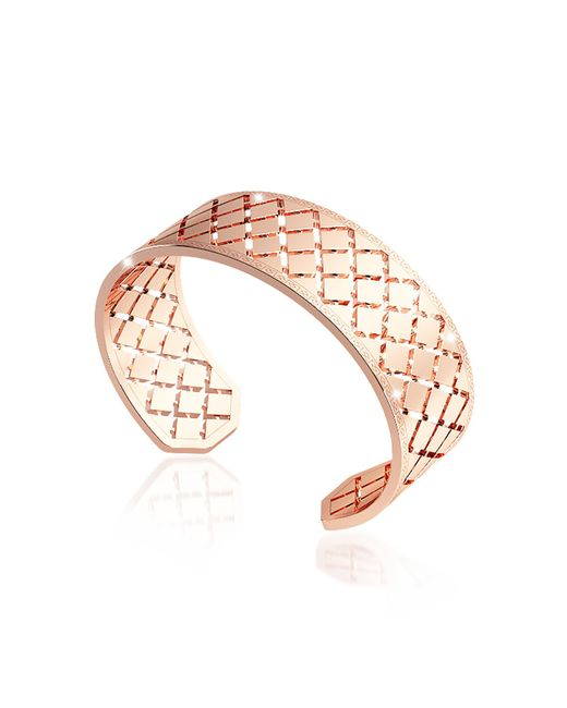 Rebecca - Pink Melrose Rose Gold Over Bronze Bangle Bracelet - Lyst