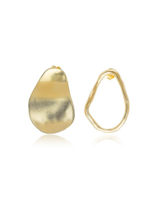 Bjorg - Metallic The Line And The Shadow Earrings - Lyst