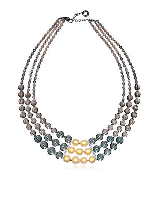 Antica Murrina - Multicolor Atelier Nuance - Grey & Amber Murano Glass Choker - Lyst