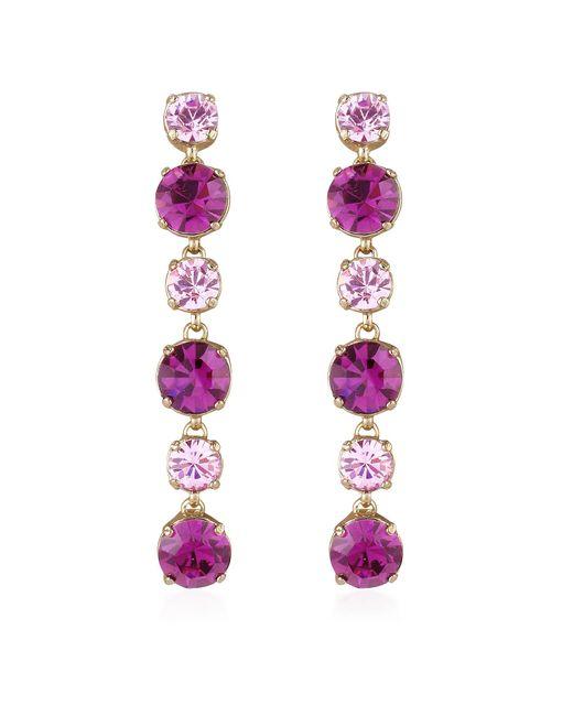 AZ Collection | Metallic Pink & Amethyst Drop Earrings | Lyst