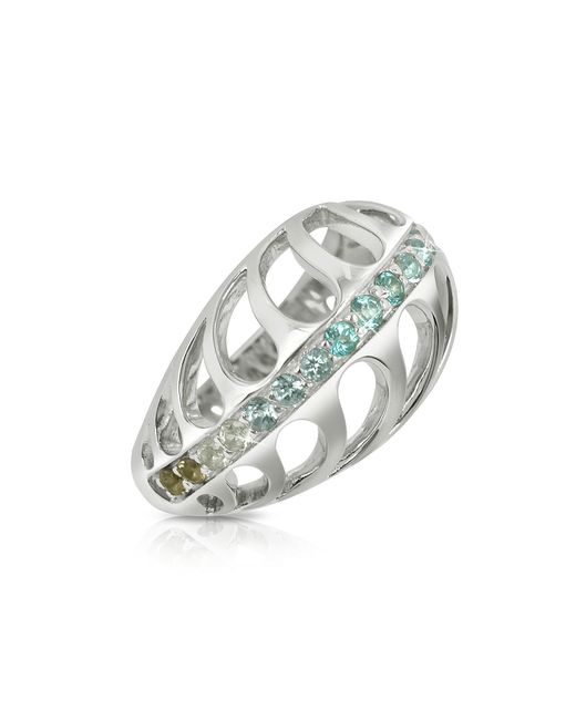 Sho London - Multicolor Sterling Silver Mari Rush Ring - Lyst