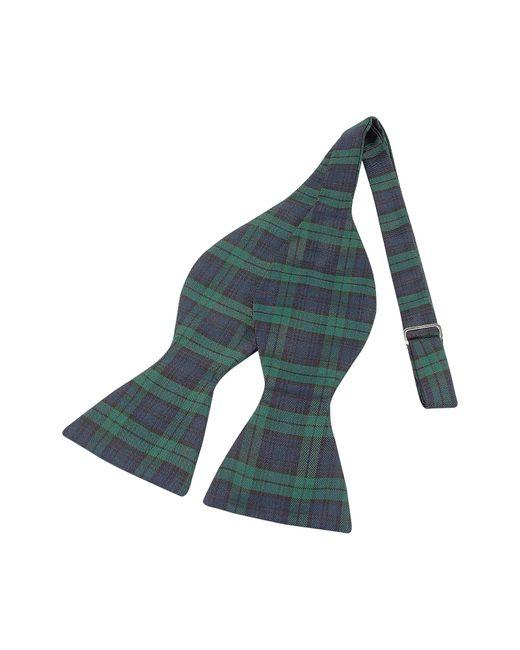 Forzieri - Green Pajarita Seda A Cuadros escoceses Verde y Azul for Men - Lyst